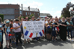 July 18, 2018 - Paris, France - Habitants de Jeumont accueillant Benjamin Pavard (Credit Image: © Panoramic via ZUMA Press)