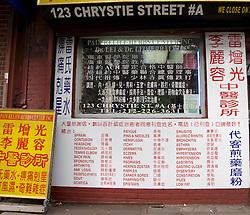 Traditional Chinese medicine pharmacy in Chinatown Manhattan New York City USA