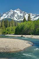 Mount Shuksan from the Nooksack River, North Cascades Washington USA