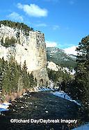 65195-036.18 Gallatin river in winter near Big Sky  MT