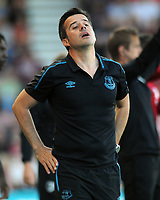 Football - 2019 / 2020 Premier League - AFC Bournemouth vs. Everton<br /> <br /> An unhappy Everton Manager, Marco Silva, at The Vitality Stadium (Dean Court).<br /> <br /> COLORSPORT/ANDREW COWIE