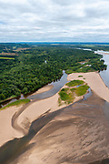 Aerial view of the Wisconsin River Valley, Wisconsin, USA.