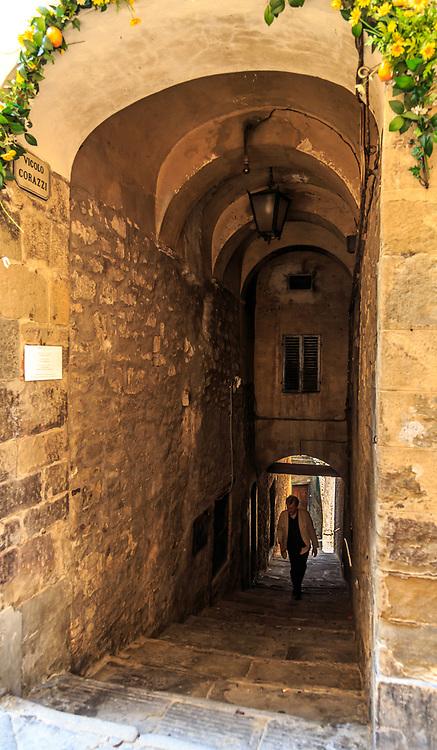 An alley in Cortona, Italy.