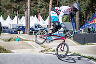 #164 (ISIDORE Quillan) GBR during practice at Round 5 of the 2018 UCI BMX Superscross World Cup in Zolder, Belgium