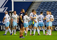 Rugby Union - 2021 Guinness Pro14 Rainbow Cup - Northern Group - Edinburgh vs Glasgow Warriors - Murrayfield<br /> <br /> The Glasgow Warriors players celebrate at full time after beating Edinburgh 31-24<br /> <br /> Credit : COLORSPORT/BRUCE WHITE
