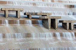 Active Pool at Fort Worth Water Gardens, Fort Worth, Texas, USA.