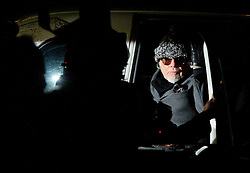 © London News Pictures. 28/10/2012. London, UK.  Former pop star Gary Glitter arriving back at his home by black cab  in London after being arrested on suspicion of sex offences by police investigating Jimmy Savile abuse claims on October 28, 2012 . Photo credit: Ben Cawthra/LNP