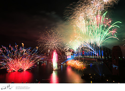 Fireworks explode over Sydney's Harbour Bridge to welcome the start of 2013.
