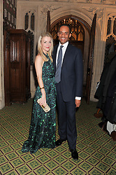 ADAM AFRIYIE MP and his wife TRACY-JANE AFRIYIE at a gala dinner in aid of Nyumbani the Hot Courses Foundation held in The Members Dining Room,  The House of Commons, London on  7th March 2013.
