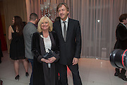 JUDY FINNIGAN; RICHARD MADDELEY, Pre -drinks at the St. Martin's Lane Hotel before a performance of the English National Ballet's Nutcracker: London Coliseum.12 December 2013