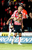 NIGEL QUASHIE celebrates with goal scorer THEO WALCOTT<br /> <br /> SOUTHAMPTON V MK DONS FA CUP THIRD RND 7.1.06 <br /> <br /> PHOTO SEAN RYAN FOTOSPORTS INTERNATIONAL
