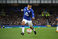 Aaron Lennon of Everton in action. The Emirates FA cup, 3rd round match, Everton v Dagenham & Redbridge at Goodison Park in Liverpool on Saturday 9th January 2016.<br /> pic by Chris Stading, Andrew Orchard sports photography.
