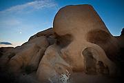Skull Rock at twilight at Joshua Tree National Park, Twentynine Palms, CA.