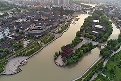 July 3, 2018 - Huai'An, Huai'an, China - Huai'an, CHINA-Aerial photography of Inner Canal Scenic Area in Huai'an, east China's Jiangsu Province. (Credit Image: © SIPA Asia via ZUMA Wire)