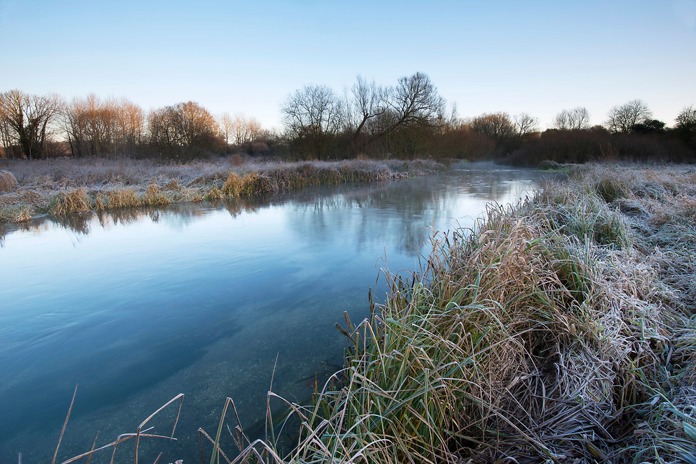 Winter on the River Test, Longparish, Hampshire.