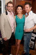 TERRY RONALD; DANNII MINOGUE; SAM DOWLER;, Terry Ronald - book launch party for his book ' Becoming Nancy' . The Westbury Hotel, Pine Room, Bond Street, London, W1S 2YF<br /> -DO NOT ARCHIVE-© Copyright Photograph by Dafydd Jones. 248 Clapham Rd. London SW9 0PZ. Tel 0207 820 0771. www.dafjones.com.