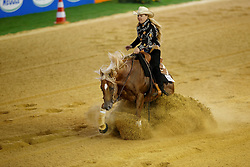 Young-Van Osch Rieky, (NED), Brady Chex<br /> Reining individual<br /> European Championships - Aachen 2015<br /> © Hippo Foto - Dirk Caremans<br /> 16/08/15