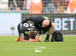 John Terry of Chelsea receives medical treatment after the final whistle. - Mandatory byline: Alex James/JMP - 07966386802 - 11/09/2016 - FOOTBALL - Barclays premier league -swansea,Wales - Swansea v Chelsea  -