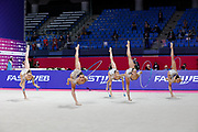 The national team of Italy during team final at the Pesaro World Championships at Virtifigo Arena, May 30, 2021.
