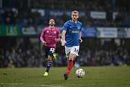 Portsmouth Defender, Jack Whatmough (16) during the The FA Cup fourth round match between Portsmouth and Queens Park Rangers at Fratton Park, Portsmouth, England on 26 January 2019.