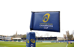 A general view of European Champions Cup branding on a corner flag - Photo mandatory by-line: Patrick Khachfe/JMP - Mobile: 07966 386802 25/01/2015 - SPORT - RUGBY UNION - Bath - The Recreation Ground - Bath Rugby v Glasgow Warriors - European Rugby Champions Cup
