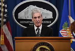 Special counsel Robert Mueller makes a statement about the investigation into Russian interference in the 2016 election at the Justice Department on May 29, 2019 in Washington, DC. Photo by Olivier Douliery/ABACAPRESS.COM