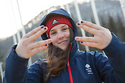 Freeskier Molly Summerhayes, Great Britain, at the Pyeongchang athlete village on February 16th 2018 in Pyeongchang-gun, South Korea.