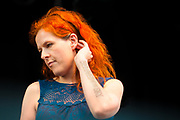 Neko Case photo by best music photographer Mara Robinson at Pitchfork Music Festival, Union Park, Chicago 2011