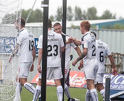 Falkirk's John Baird cele scoring their sixth goal. Falkirk 6 v 1 Elgin City, Irn-Bru Challenge Cup Third Round, played 3/9/2016 at The Falkirk Stadium .
