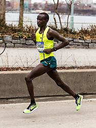 NYRR New York City Half Marathon road race: Stephen Sambu, Kenya, Nike