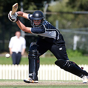 Aimee Mason batting during the match between England and New Zealand in the Super 6 stage of the ICC Women's World Cup Cricket tournament at Bankstown Oval, Sydney, Australia on March 14 2009, England won the match by 31 runs. Photo Tim Clayton