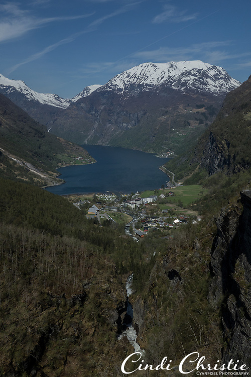 This overlook of Geiraingerfjord, seen on May 18, 2013, is one of the most popular view spots in Norway.  Geirangerfjord is among UNESCO World Heritage sites.  (© 2013 Cindi Christie)