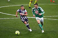 Adrien Regattin / Loic Perrin - 28.02.2015 - Toulouse / Saint Etienne - 27eme journee de Ligue 1 -<br />Photo : Manuel Blondeau / Icon Sport