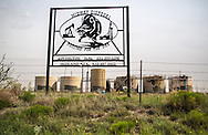 Fracking wastewater disposal plant in Lovington New Mexico, part of the Permian Basin which is experience an oil boom due to the fracking industry.