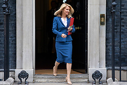 © Licensed to London News Pictures. 10/07/2018. London, UK. Secretary of State for Work and Pensions Esther McVey leaves 10 Downing Street after the Cabinet meeting. Photo credit: Rob Pinney/LNP