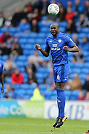 Sol Bamba of Cardiff city in action. EFL Skybet championship match, Cardiff city v Derby County at the Cardiff city stadium in Cardiff, South Wales on Saturday 30th September 2017.<br /> pic by Andrew Orchard, Andrew Orchard sports photography.
