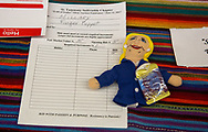 """A Hillary Clinton action figure doll auctioned off at the """"Ear of Steve"""" fundraising  event in Abita Springs Louisana on June 11. No bids were made on this item."""