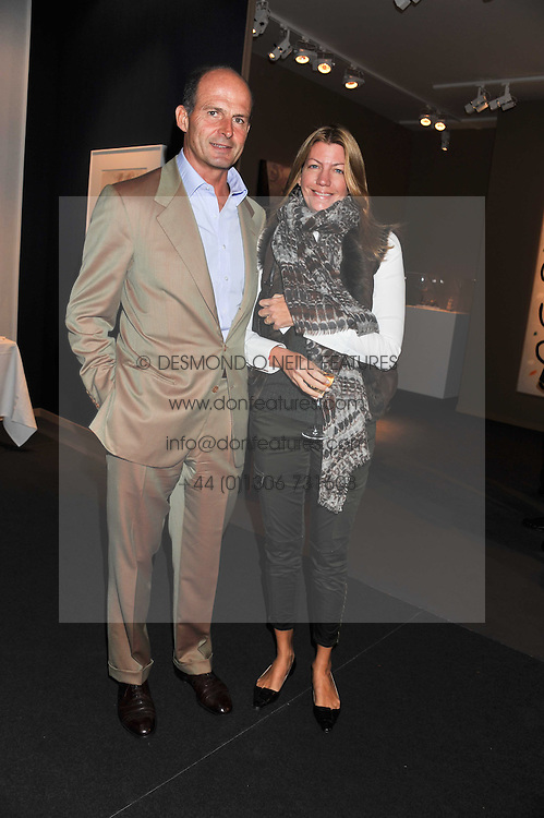 COUNT & COUNTESS RICCARDO PAVONCELLI at the Private View of the Pavilion of Art & Design London 2011 held in Berkeley Square, London on 10th October 2011.