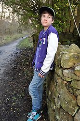 12 year old boy. Posed by model