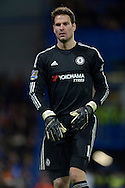 Goalkeeepr Asmir Begovic of Chelsea looking on. Barclays Premier league match, Chelsea v Norwich city at Stamford Bridge in London on Saturday 21st November 2015.<br /> pic by John Patrick Fletcher, Andrew Orchard sports photography.