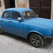 Vintage Soviet car on the streets of Havana, Cuba.