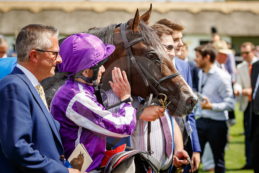 US Navy Flag (Ryan Moore) (purple cap)  wins The Darley July Cup Stakes Gr.1  in Newmarket, 14/07/2018, photo: Zuzanna Lupa