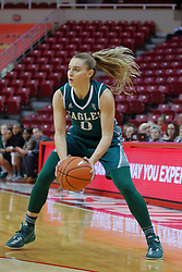 10 December 2017: Tiffany Suarez during an College Women's Basketball game between Illinois State University Redbirds and the Eagles of Eastern Michigan at Redbird Arena in Normal Illinois.