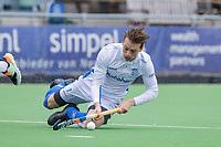 AMSTELVEEN - Ties Ceulemans (Kampong)  tijdens   hoofdklasse hockeywedstrijd mannen, Pinoke-Kampong (2-5) . COPYRIGHT KOEN SUYK