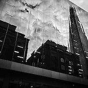 Reflection of The Shard on a moody summer evening. Shot on iPhone 6 on evening bike ride.