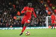 Sadio Mane of Liverpool in action. Premier League match, Liverpool v West Ham Utd at the Anfield stadium in Liverpool, Merseyside on Sunday 11th December 2016.<br /> pic by Chris Stading, Andrew Orchard sports photography.