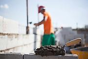 Betim_MG, 10 de novembro de 2011.<br /> <br /> Imagens do canteiro de obra da construtora MRV.<br /> <br /> Foto: BRUNO MAGALHAES / NITRO