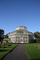 The The Great Palm House at the National Botanic Gardens in Dublin Ireland