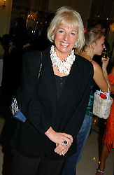 """CAROL THATCHER at a party to celebrate the publication of Bruce Oldfield's autobiography """"Rootless"""" held in aid of Crimestoppers at Claridge's, Brook Street, London W1 on 22nd September 2004.<br /><br />NON EXCLUSIVE - WORLD RIGHTS"""