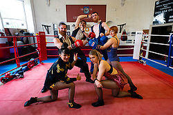 "Edinburgh, Scotland, UK. 5 August 2019. Acrobats from Australian Troupe Company2 hold a master class with young boxers in Leith Victoria AAC, Scotland's oldest boxing club and which celebrates it's centenary this year. The company's show ""Fight Night"" runs at Underbelly's Circus Tent. Iain Masterton/Alamy Live News"